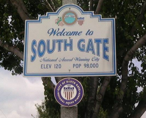 South Gate Welcome Sign