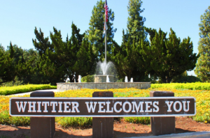 Whittier, CA - Welcome sign